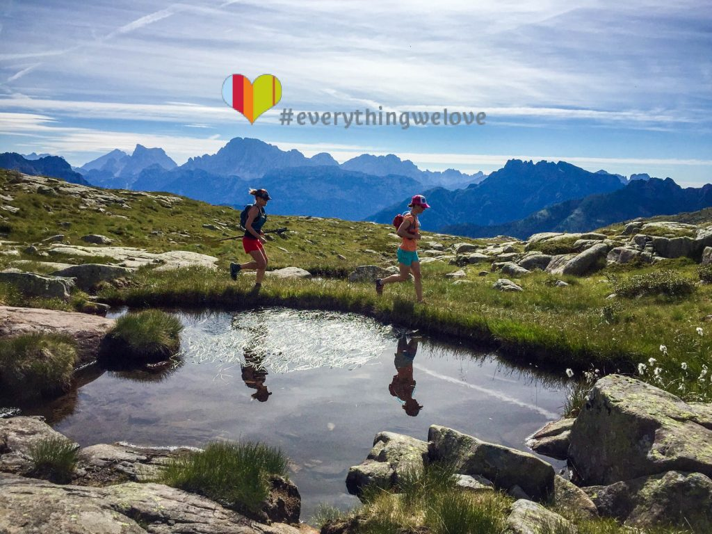Trail Runner into the Dolomites